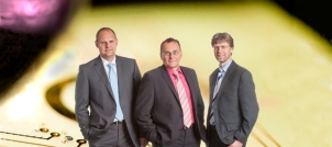 (f.l.t.r.) Dipl.-Ing. Andreas Wenzel, Dr.-Ing. Stefan Rüping, Dipl.-Ing. (FH) Marcus Janke