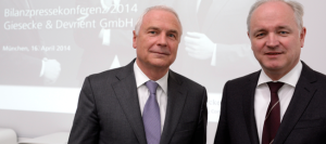 G&D's Chairman Walter Schlebusch and CFO Peter Zattler